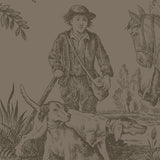 Hunting Toile Chocolate - DebbieMcKeegan - Wallpaper - 2