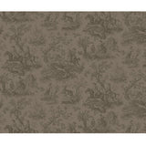 Hunting Toile Chocolate - DebbieMcKeegan - Wallpaper - 3