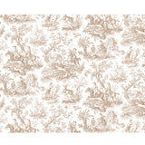Hunting Toile Chocolate/White - DebbieMcKeegan - Wallpaper - 3