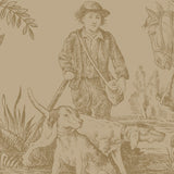 Hunting Toile Ombre Panel - DebbieMcKeegan - Wallpaper - 2