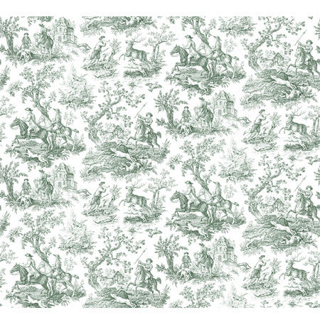Hunting Toile Forest/White - DebbieMcKeegan - Wallpaper - 3