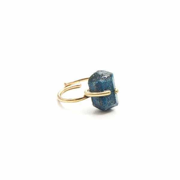 Recycled Paper Nugget Ring - Blue