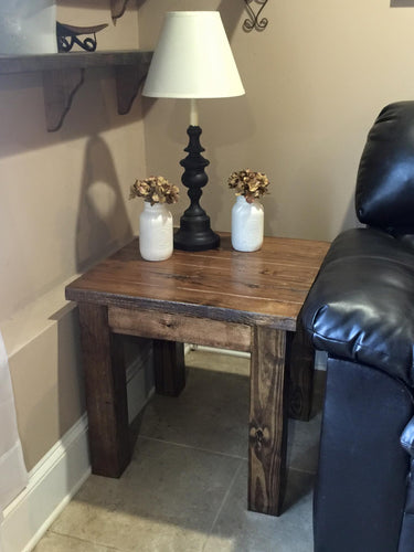 Chunky Leg End Table