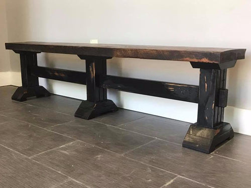 Triple Pedestal Bench