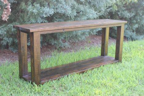 Single Shelf 4 x 4 Console Table