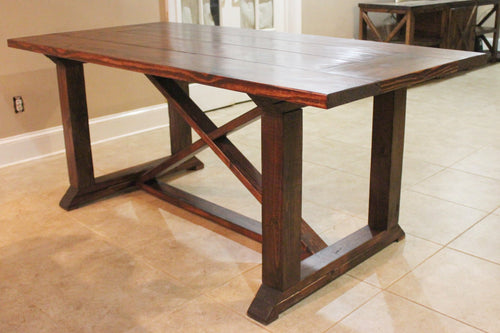 Chunky 4 x 4 X Dining Table