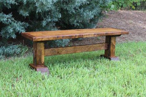 Double Pedestal Bench