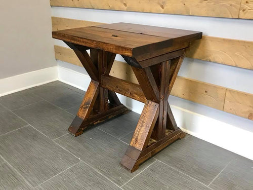 Double X End Table