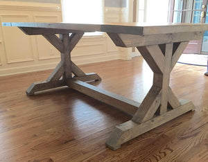 Chunky Double X Dining Table