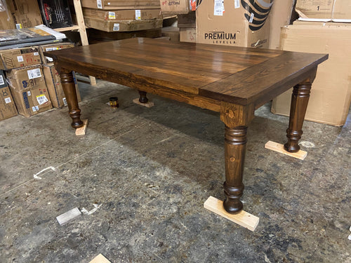 Hand Turned Leg Dining Table