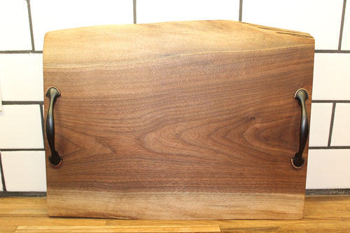 Large Walnut Serving Tray