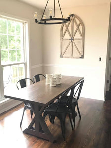 Metal Double X Kitchen Table
