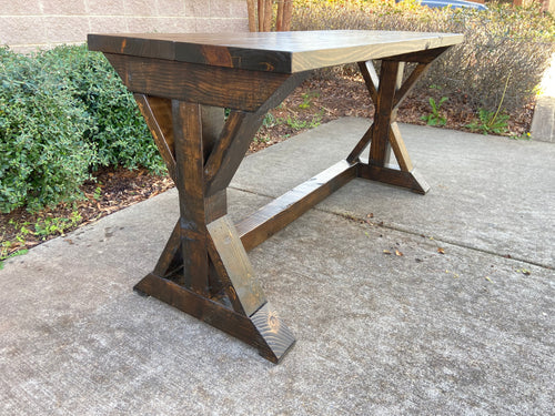 Chunky Double X Desk