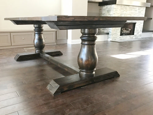 Hand Turned Pedestal Dining Table