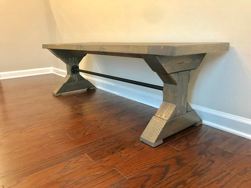 Chunky Double X with Metal Bench