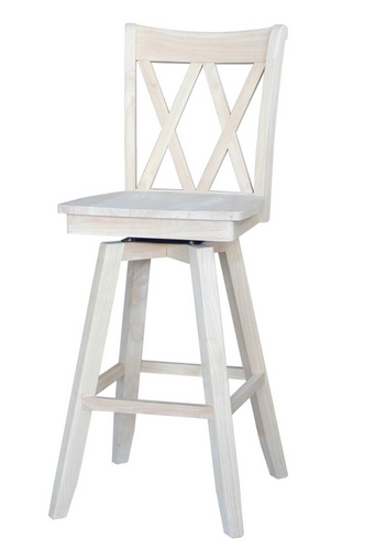 Double X Swivel Bar Height Stool