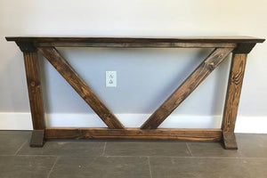 Thin Rough Sawn V Console Table