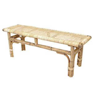LINENS & MORE Bench Seat Woven Top Natural