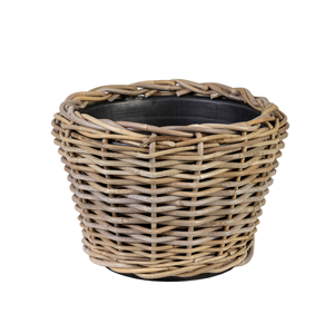 LINENS & MORE Drypot Rattan Round 230mm X 320mm