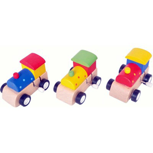 ALLENS TRADING Wooden Wind Up Train