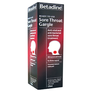 BETADINE Sore Throat Gargle RTU 120ml