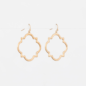 STELLA & GEMMA Earrings Brocante Square Gold