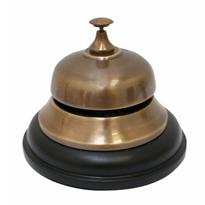 CC INTERIORS Brass Table Bell Black Base