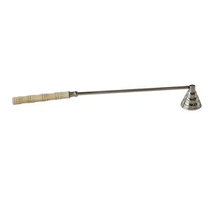 CC INTERIORS Candlesnuffer Nickel Finish Bone Handle