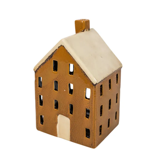 FRENCH COUNTRY Tealight House Chalet Mustard 12X10X19cm