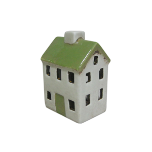 FRENCH COUNTRY Tealight House Cream 7X6X11cm