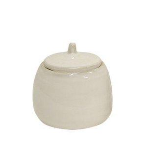 FRENCH COUNTRY Franco Rustic White Sugar Pot
