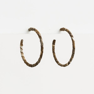 STELLA & GEMMA Earrings Fabric Hoop Snake