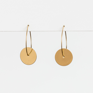 STELLA & GEMMA Earrings Gold Hoops With Discs