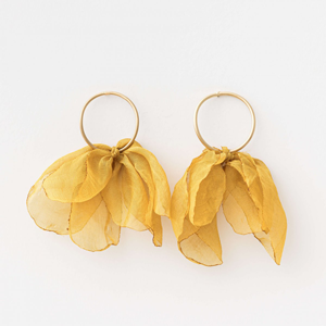 STELLA & GEMMA Earrings Organza Tulip Honey