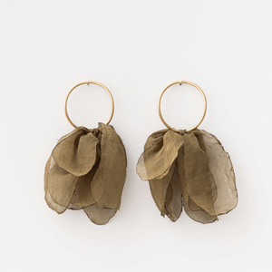 STELLA & GEMMA Earrings Organza Tulip Khaki