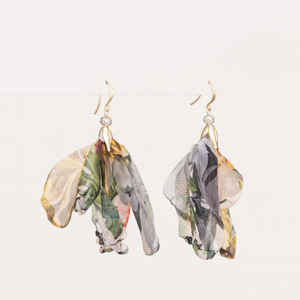STELLA & GEMMA Earrings Floral Organza
