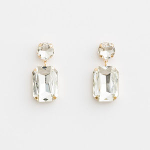 STELLA & GEMMA Earrings Rocks Crystal 2 Drops