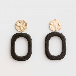 STELLA & GEMMA Earrings Etta Hoop Ebony