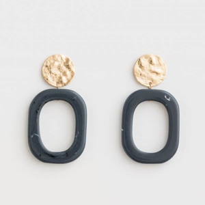 STELLA & GEMMA Earrings Etta Hoop Sea Blue