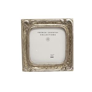 FRENCH COUNTRY Frame Antique Mini Silver Square 2X3