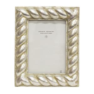 FRENCH COUNTRY Frame Silver Rope Rectangle 5X7