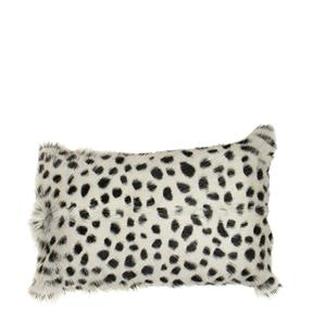 FRENCH COUNTRY Leopard Cushion Faux Fur