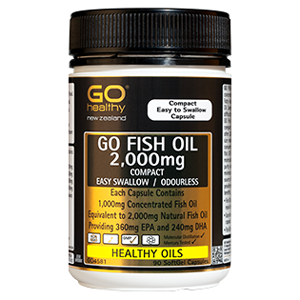 GO HEALTHY Fish Oil 2000mg Odourless 90cap