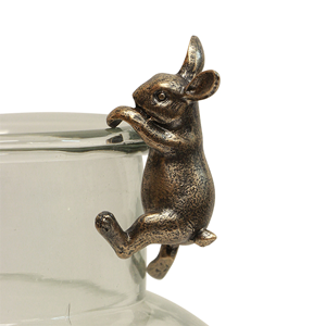 FRENCH COUNTRY Hanging Bunny Decor Gold