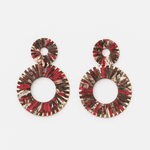 STELLA & GEMMA Earrings Spheres Fuchsia Snake