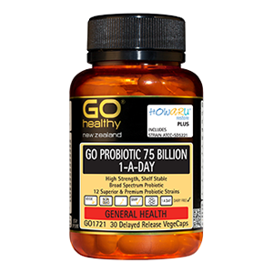 GO HEALTHY 75 Billion Probiotic 1xday 30 Caps Howaru