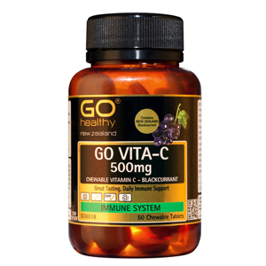 GO HEALTHY Vita-C 500mg B/Currant 50 Chew
