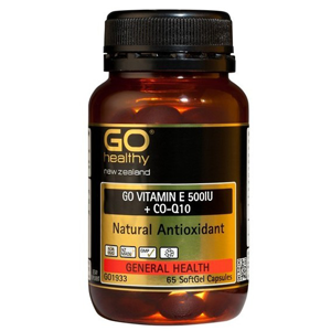 GO HEALTHY Vitamin E 500IU+CoQ10 65 caps