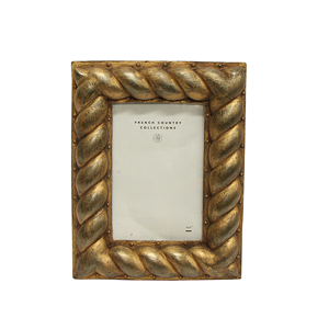 FRENCH COUNTRY Gold Rope Frame 4x6""