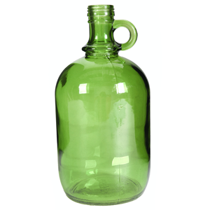 CC INTERIORS Green Vintage Style Bottle
